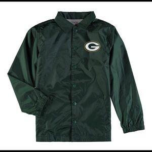 Youth Green Bay Packer Bravo Coach Jacket